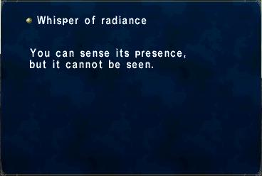 Whisper of radiance