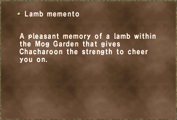 Lamb memento
