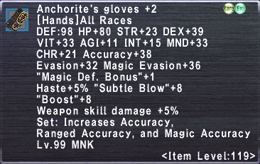 Anchorite's Gloves Plus 2