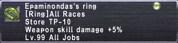 Epaminondas's Ring