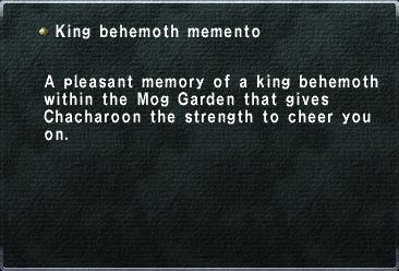 King behemoth memento