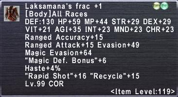 Laksamana's Frac +1