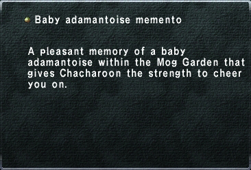Baby adamantoise memento