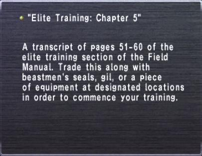 Elite Training Chapter 5