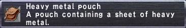 Heavy Metal Pouch