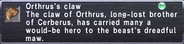 Orthrus's Claw