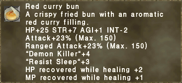 Red curry bun