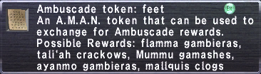 Ambuscade Token Feet