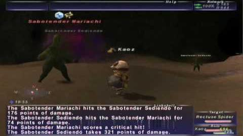 FFXI NM Saga 065 Sabotender Mariachi vs BST solo Full battle