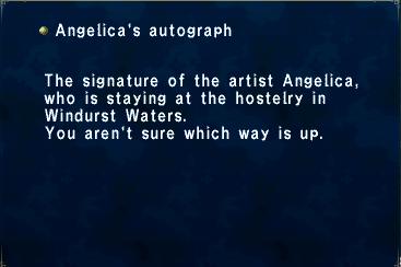 Angelica's Autograph