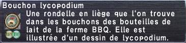 Bouchon lycopodium