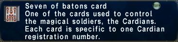 Card sevenofbatons
