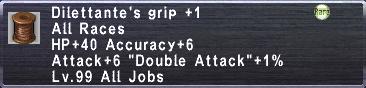Dilettante's Grip +1