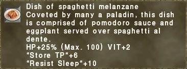 Dish of spaghetti melanzane