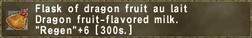 Flask of dragon fruit au lait