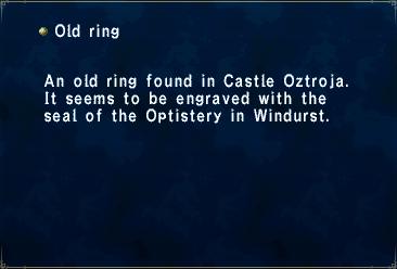 Key item old ring