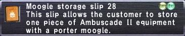 Moogle storage slip 28