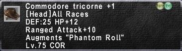 Commodore Tricorne 1
