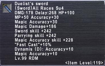 Duelist's Sword