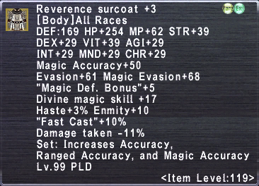 Reverence Surcoat +3