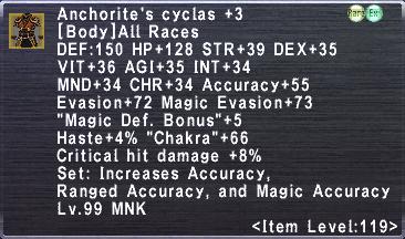 Anchorite's Cyclas Plus 3