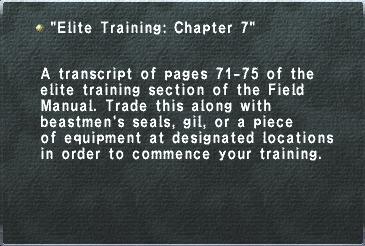 Elite Training- Chapter 7