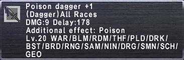 Poison Dagger Plus 1