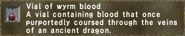 Vial of wyrm blood