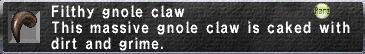 Filthy gnole claw