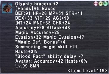 Glyphic bracers +2