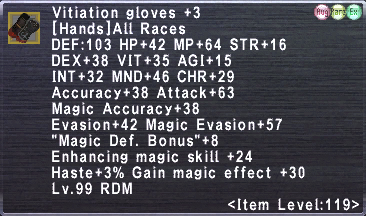 Vitiation gloves +3