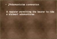 ♪Adamantoise companion