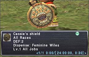 Cassie's shield vanity