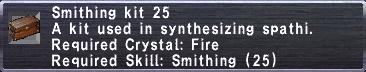 Smithing Kit 25