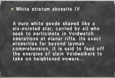 White stratum abyssite IV
