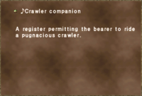 ♪Crawler companion