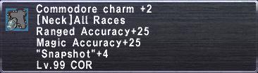 Commodore Charm +2