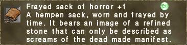 Frayed sack of horror +1