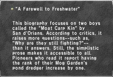 A Farewell to Freshwater