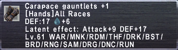 Carapace Gauntlets +1