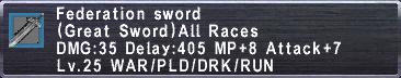Federation Sword