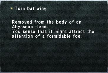Torn bat wing
