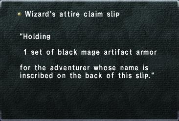 Wizards Attire Slip