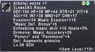 Arbatel Pants +1