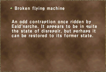 Broken flying machine