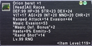 Orion Beret +1