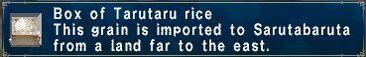 Tarutaru rice