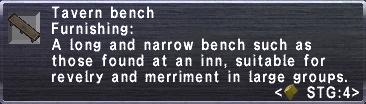 Tavern Bench Stats