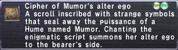 Cipher Mumor