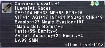 Convoker's Spats +1